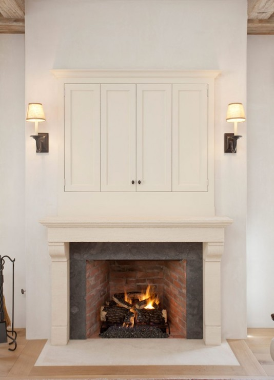 flat-panel-tv-enclosed-over-fireplace-mantel