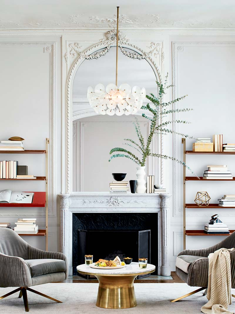 Asymmetrical-mantel-decor